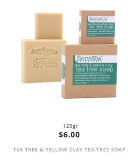 tea tree & yellow clay tea tree soap