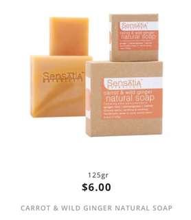 carrot & wild ginger natural soap