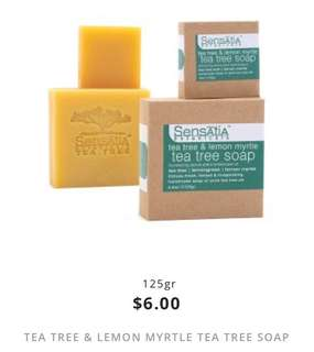 tea tree & lemon myrtle tea tree soap