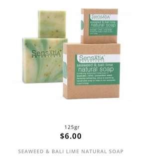seaweed & bali lime natural soap