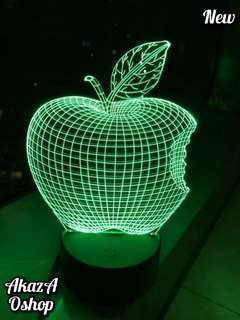 Lampu Hias LED 3D Logo Apple