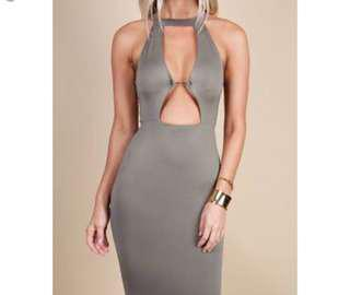 Zachary the Label Mercury gown in khaki