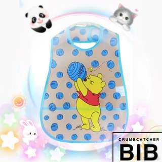 👶🏻 WATERPROOF CRUMBCATCHER BIB BABY FEEDING ESSENTIALS POOH BEAR