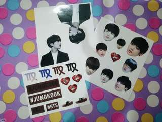 BTS Jungkook Fansite Sticker Set