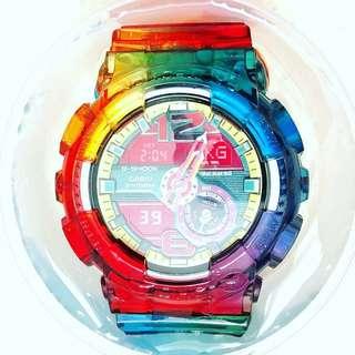 Casio G-shock 彩虹色/自定顏色帶殻 (不連錶玉)(非原廠)