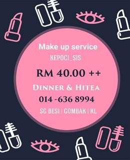 Make up service budget