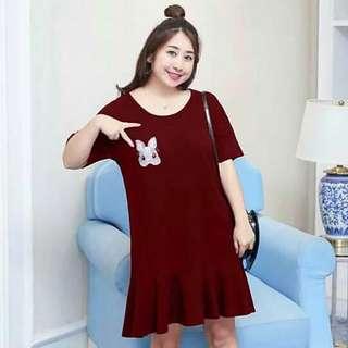 🐊Plus size rabbit design Dress