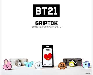 BTS BT21 Official LINE FRIENDS Griptok Preorder
