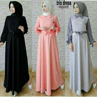 Gamis syari trio dress