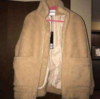 I am Gia pixie jacket in tan