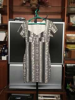 MINKPINK Monochrome Aztec Dress