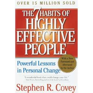[eBook] The 7 Habits of Highly Effective People: Powerful Lessons in Personal Change by Stephen R. Covey