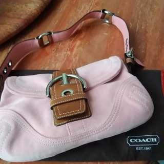Coach 手袋 suede handbag