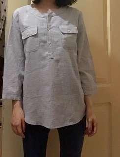 新增實穿照❤️闆娘私物-韓系格紋開襟氣質上衣
