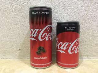 Coca Cola Plus Coffee (240ml) & coca cola No Sugar (180ml)