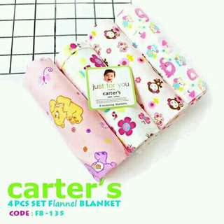 4 pcs set flannel blanket