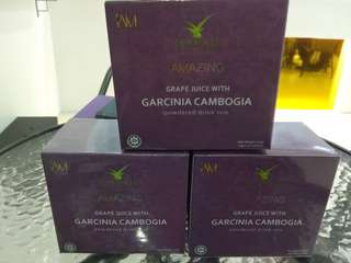 Amazing Grapes with Garcinia Cambogia powdered drink Mix
