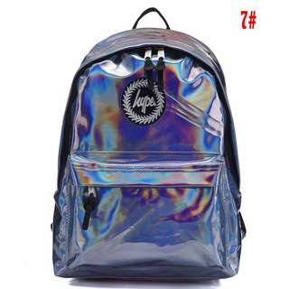 Holographic Just Hype backpack Casual Backpack Sport British Students School bag