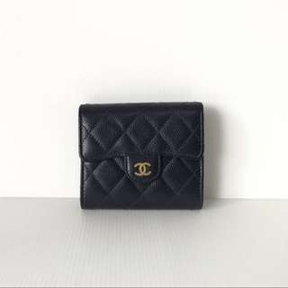 AUTHENTIC CHANEL CLASSIC SMALL TRI FOLD WALLET