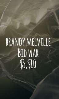 BRANDY MELVILLE BID WAR ✨