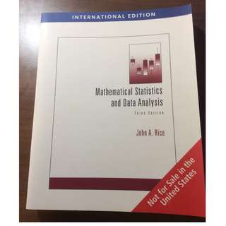 mathematical statistics and data analysis (ST2132)