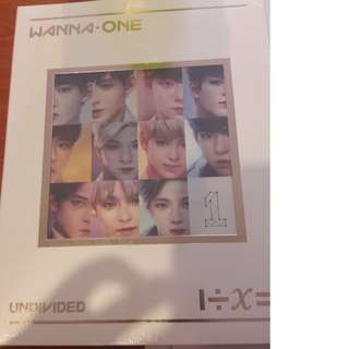 [WTS READY STOCK] WANNA ONE UNDIVIDED ART BOOK ALBUM ONLY (NO PC)