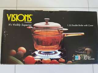 Visions - 1.5L Double Boiler with cover