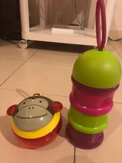 Beaba Milk Powder/ Snack container + Skip hop snack container