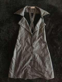PUPE JEANS sexy pinstripe vest dress