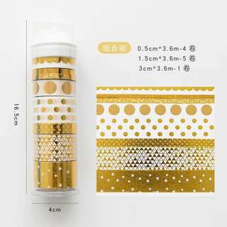 [Pre-order] Gold Series Washi Tape Set