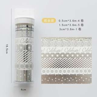 [Pre-order] Silver Series Washi Tape Set