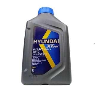 Hyundai Engine Oil For Diesel | XTeer Diesel Ultra 5W40 100% Synthetic - 1 Liter