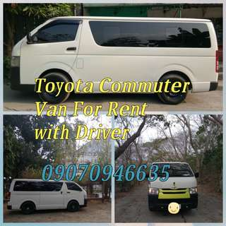 Van for rent with driver