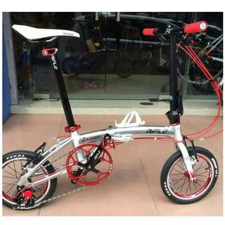 Rifle Vintage Foldable Bike/Foldi 14'' (3 Speed) for leisure cycle (Special Design)(Light Weight)