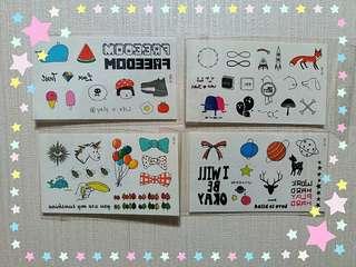 可愛☆紋身貼紙☆ 一套4張 @HK$10包本地平郵