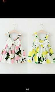 Buy 1 Get 1 Little Kids 0-3Y/O Infant Baby Girl FLoral Dress Lemon