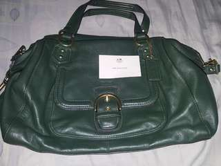 Coach Campbell Leather Large Satchel