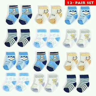 12 pcs set  socks
