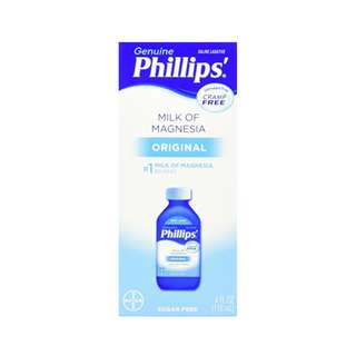 Phillips' Milk of Magnesia, Laxative, Original, 4 Ounce (Pack of 6)