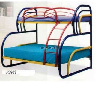 Twin Over Full Bunk Metal Bed Frame (JO903SB)