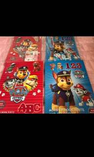 🚚 Last 8pcs !! Paw Patrol activity book ABC /123 brand new each -$4 buy set w crayon -$4.90