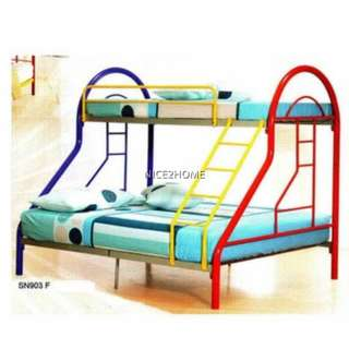 Twin Over Full Bunk Metal Bed Frame (SN903)