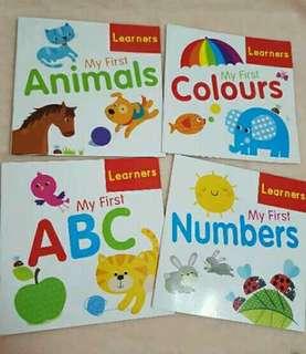 4 pcs set educational books