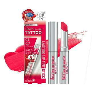 K-Palette 1 Day Lasting Lip Tint Stick In 04 Juicy Red