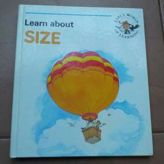 Learn about size book early world of learning