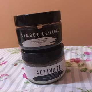 28STREET ACTIVATE AND BAMBOO CHARCOAL FACE MASK BUNDLE