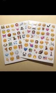 Emoji sticker 貼紙2張