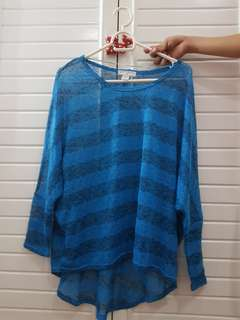 Cotton On - Blue Stripes Cover Up (knitted)