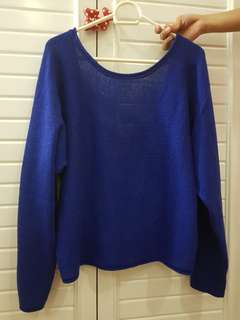 Forever 21 - Royal Blue Sweater (w/ ribbon back details)