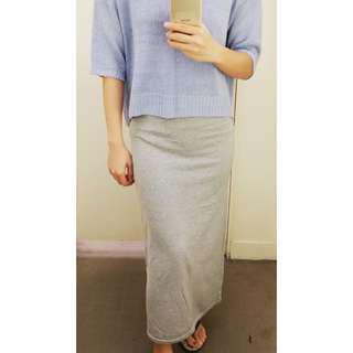 📣(Free.pos) Grey Maxi Skirt
